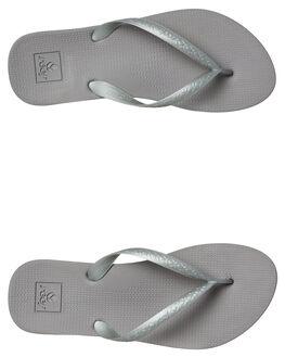 SILVER WOMENS FOOTWEAR REEF THONGS - A3FETSIL