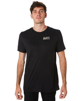 BLACK MENS CLOTHING SWELL TEES - S5201009BLACK