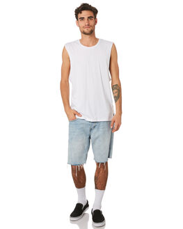 WHITE MENS CLOTHING SILENT THEORY SINGLETS - 40X0025WHT
