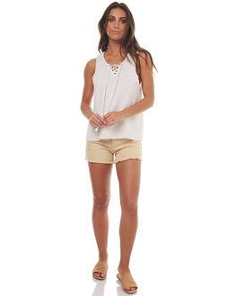 NATURAL WOMENS CLOTHING SWELL SHORTS - S8171234NAT