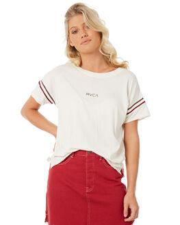 VINTAGE WHITE WOMENS CLOTHING RVCA TEES - R281681VWH