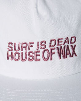 WHITE MENS ACCESSORIES SURF IS DEAD HEADWEAR - SD18HA6-03WHT