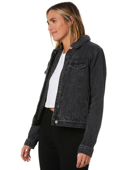 BLACK WOMENS CLOTHING SWELL JACKETS - H8182381BLACK