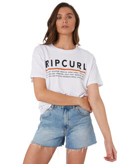 WHITE WOMENS CLOTHING RIP CURL TEES - GTEHW91000