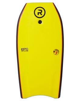 LIGHT BLUE YELLOW BOARDSPORTS SURF RANDOM SOFTBOARDS BODYBOARDS - CLSSBBLBLUY