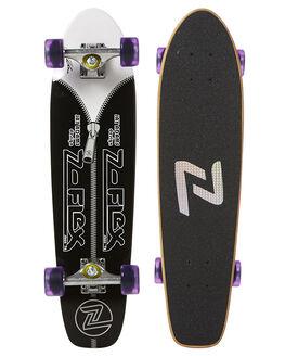 BLACK WHITE SKATE COMPLETES Z FLEX  - ZFX0122BKWHT