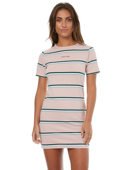 PINK STRIPE WOMENS CLOTHING RPM DRESSES - 7HWD01APINK
