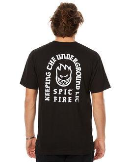 BLACK MENS CLOTHING SPITFIRE TEES - 51010552BLK