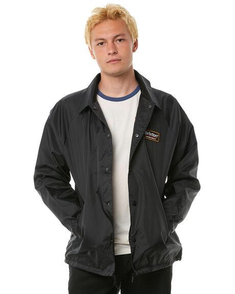 BLACK MENS CLOTHING BRIXTON JACKETS - 03183BLACK