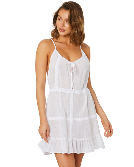 WHITE WOMENS CLOTHING RUSTY DRESSES - SCL0365WHT
