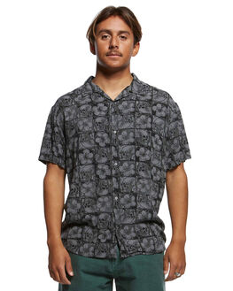 IRON GATE FLORAL MENS CLOTHING QUIKSILVER SHIRTS - EQYWT03875-KZM6