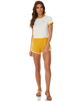 MUSTARD NATURAL WOMENS CLOTHING AFENDS PLAYSUITS + OVERALLS - 51-02-094MNAT