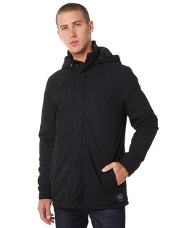 BLACK MENS CLOTHING ACADEMY BRAND JACKETS - 18W204BLK