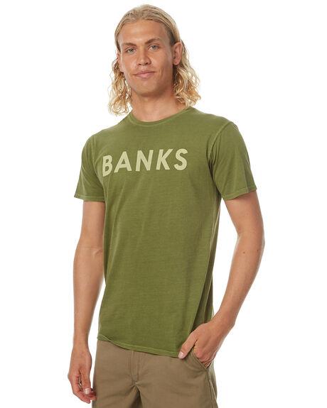 LODEN GREEN MENS CLOTHING BANKS TEES - WTS0182LDR
