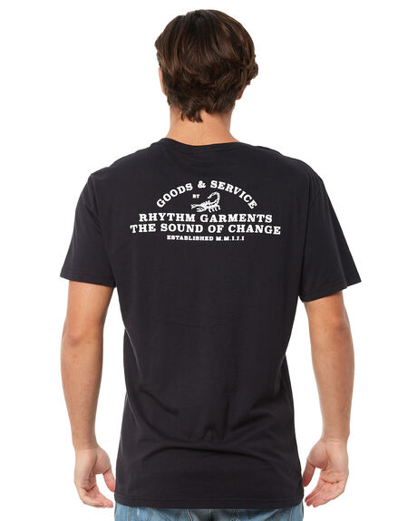 BLACK MENS CLOTHING RHYTHM TEES - JAN18M-PT06BLK