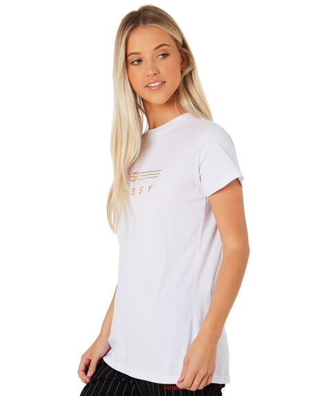 WHITE WOMENS CLOTHING STUSSY TEES - ST187019WHT