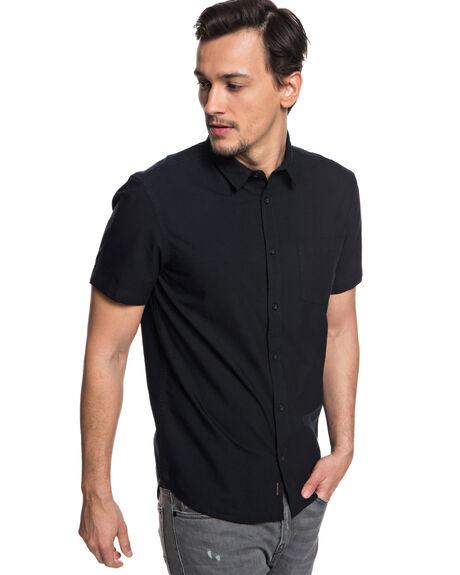 BLACK MENS CLOTHING QUIKSILVER SHIRTS - EQYWT03705KVJ0