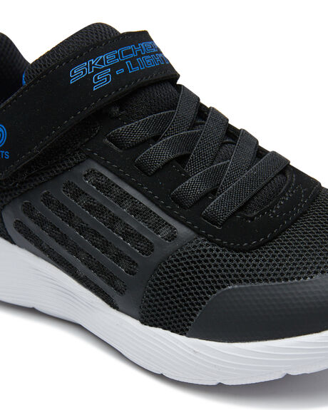 BLACK KIDS BOYS SKECHERS SNEAKERS - 904740LBKRY