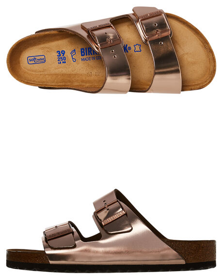 METALLIC COPPER WOMENS FOOTWEAR BIRKENSTOCK FASHION SANDALS - 752721MCPR