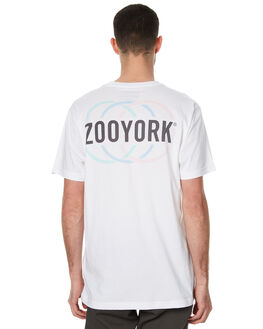WHITE MENS CLOTHING ZOO YORK TEES - ZY-MTC7084WHT