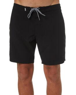 BLACK MENS CLOTHING RHYTHM BOARDSHORTS - OCT18M-TR10-BLK