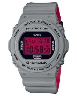 RED BACK MENS ACCESSORIES G SHOCK WATCHES - DW5700SF-1DRBK