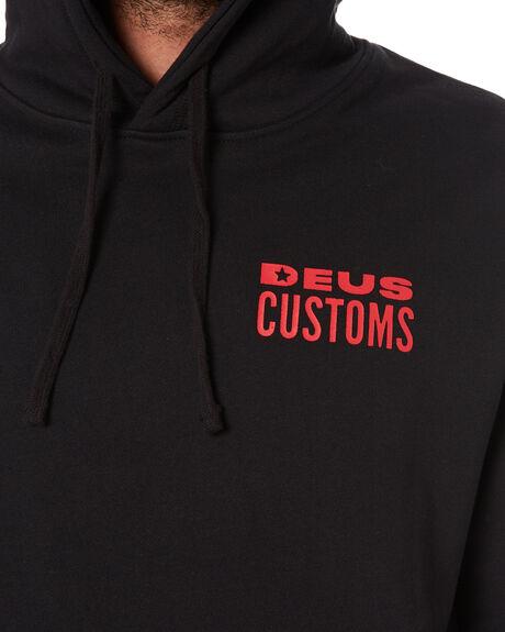 BLACK MENS CLOTHING DEUS EX MACHINA HOODIES + SWEATS - DMW2081249BLK