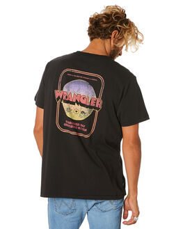 WORN BLACK MENS CLOTHING WRANGLER TEES - 901566082