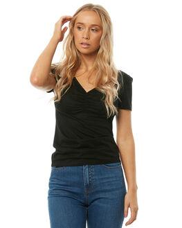 BLACK WOMENS CLOTHING SWELL TEES - S8182004BLACK