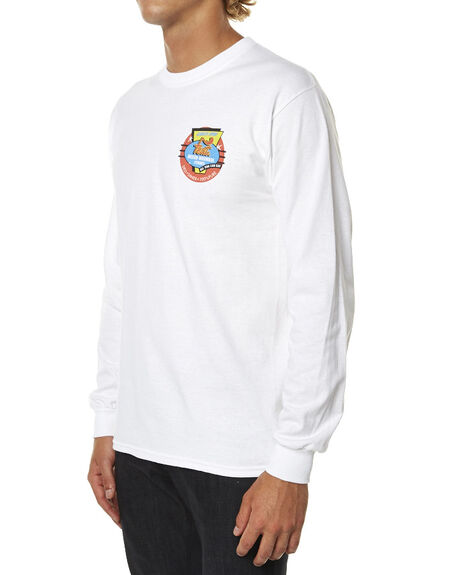 WHITE MENS CLOTHING FEAT TEES - FTTLSIEA011WHI