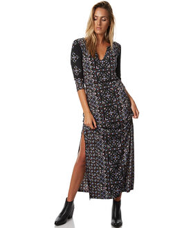 BLACK WOMENS CLOTHING TIGERLILY DRESSES - T373423BLK