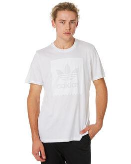 WHITE WHITE MENS CLOTHING ADIDAS TEES - DU8331WHTWH