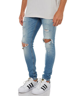 FADED BLUE MENS CLOTHING THE PEOPLE VS JEANS - AW17090-BLU_FBLU