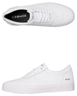 WHITE MENS FOOTWEAR HUF SNEAKERS - VC00079-WHT