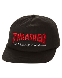 BLACK RED MENS ACCESSORIES THRASHER HEADWEAR - 35065349BLK