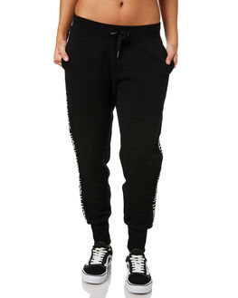 BLACK WOMENS CLOTHING SILENT THEORY PANTS - 6012028BLK