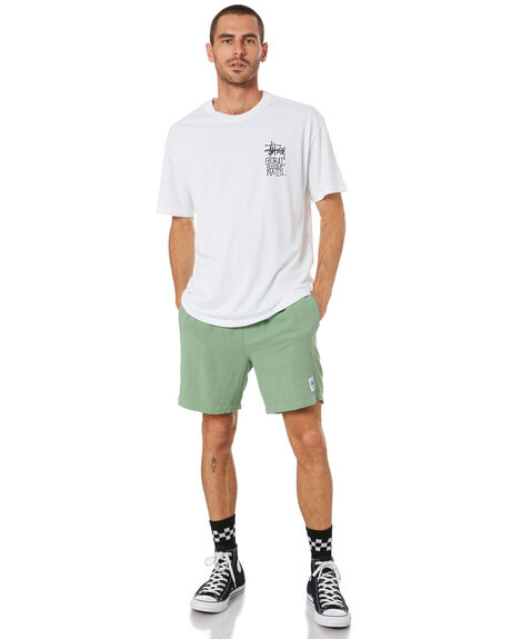 WHITE MENS CLOTHING STUSSY TEES - ST001000WHT