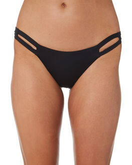 BLACK ECO LUXE WOMENS SWIMWEAR VITAMIN A BIKINI BOTTOMS - 42BECB