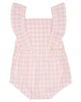 PINK GINGHAM KIDS BABY WALNUT CLOTHING - SP19JUNRMPPKGNG