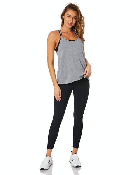 CHARCOAL WHITE WOMENS CLOTHING DK ACTIVE ACTIVEWEAR - DK05-008-CHAWHT-XS