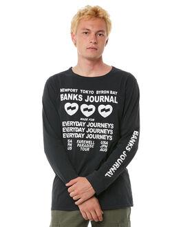 DIRTY BLACK MENS CLOTHING BANKS TEES - WLTS0033DBL