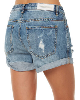 MID BLUE WOMENS CLOTHING CAMILLA AND MARC SHORTS - CMD8137M60
