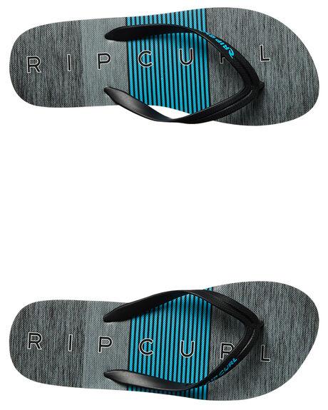BLACK BLUE MENS FOOTWEAR RIP CURL THONGS - TCTE860107