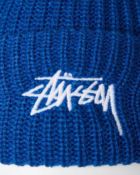 BLUE MENS ACCESSORIES STUSSY HEADWEAR - ST796004BLU