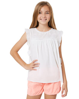 WHITE KIDS GIRLS EVES SISTER TOPS - 9920028WHT