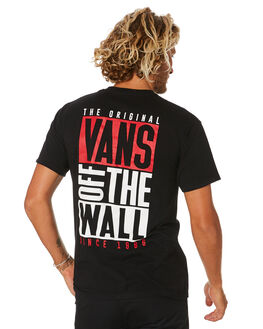BLACK MENS CLOTHING VANS TEES - VN0A49Q6BLKBLK