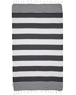 BLACK WHITE ACCESSORIES TOWELS MAYDE  - 15KIRRBWBWHI
