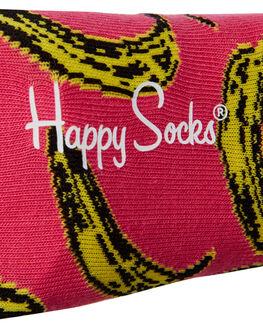 PINK MENS ACCESSORIES HAPPY SOCKS SOCKS + UNDERWEAR - AWBAN01-3000PNK
