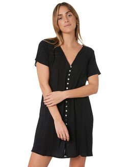 BLACK WOMENS CLOTHING RIP CURL DRESSES - GDRHX10090