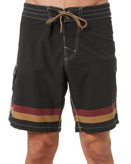 BLACK MENS CLOTHING STAY BOARDSHORTS - SBO-21104BLK
